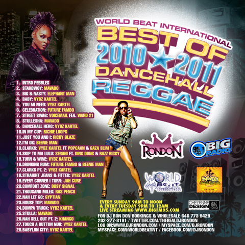 BEST OF 2010/2011 DANCEHALL REGGAE (DOWNLOAD ONLY)