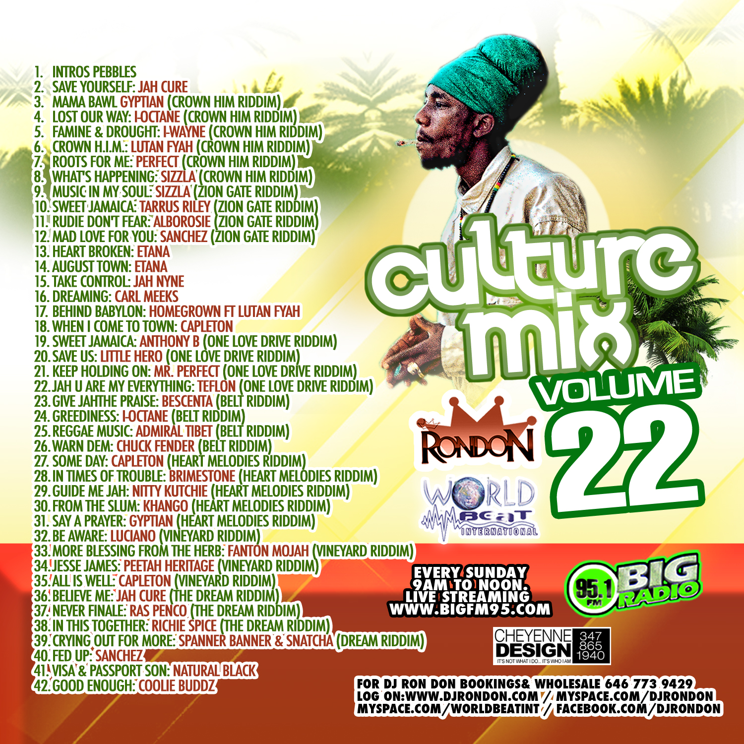 CULTURE MIX REGGAE VOL. 22 (DOWNLOAD ONLY)