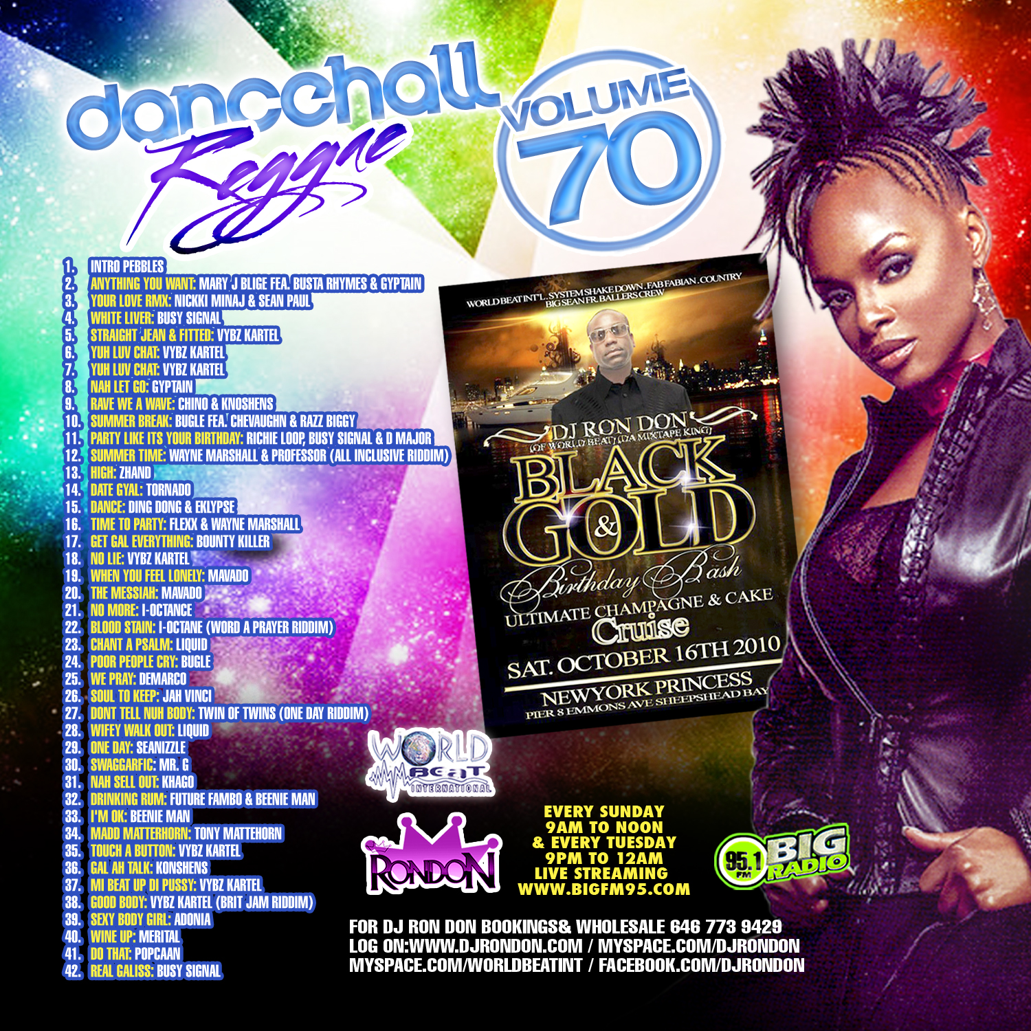 DANCEHALL REGGAE VOL. 70 (DWLN ONLY)