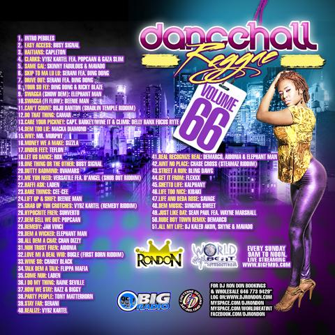 DANCEHALL REGGAE VOL. 66 (DWLN ONLY)