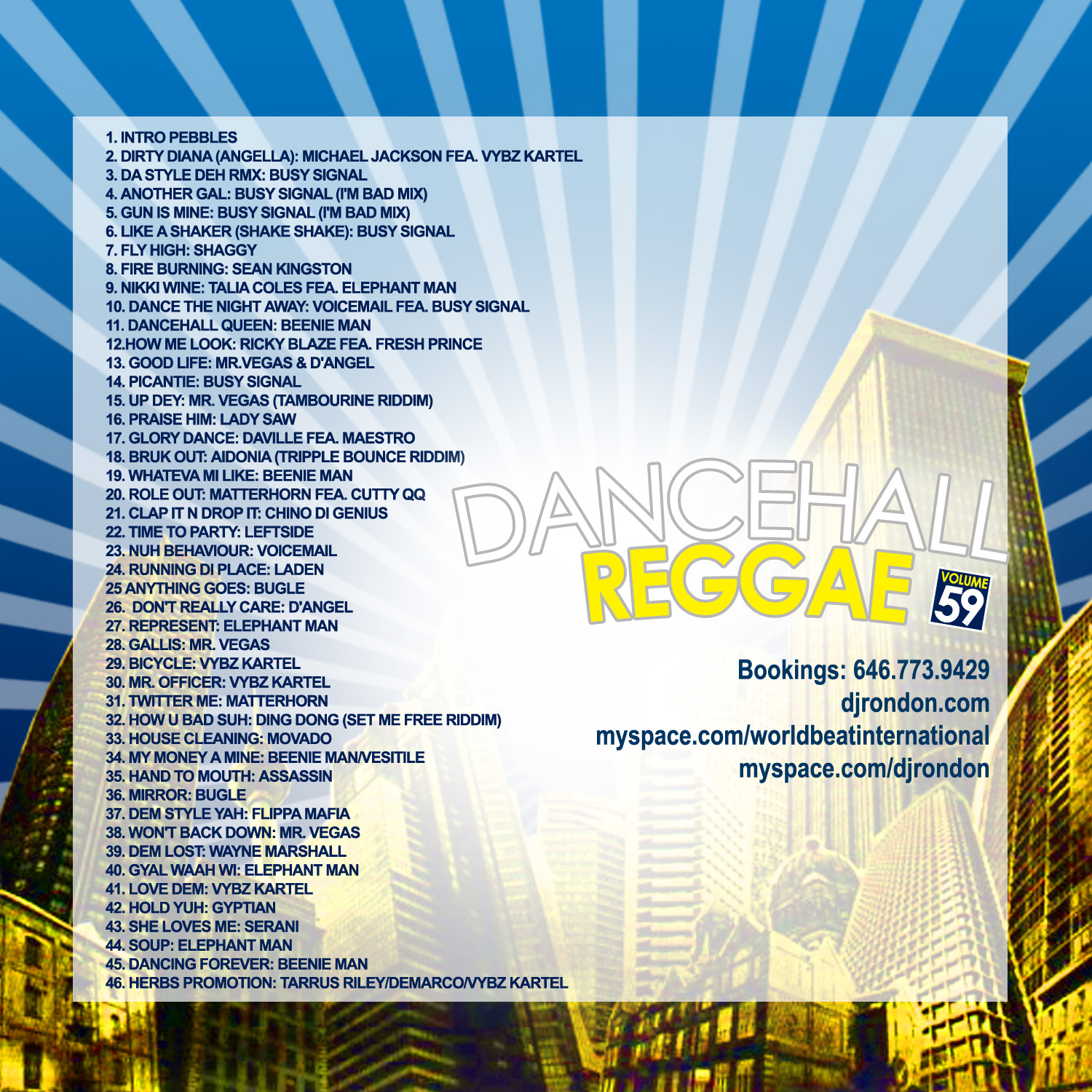 DANCEHALL REGGAE VOL. 59 (DOWNLOAD ONLY)
