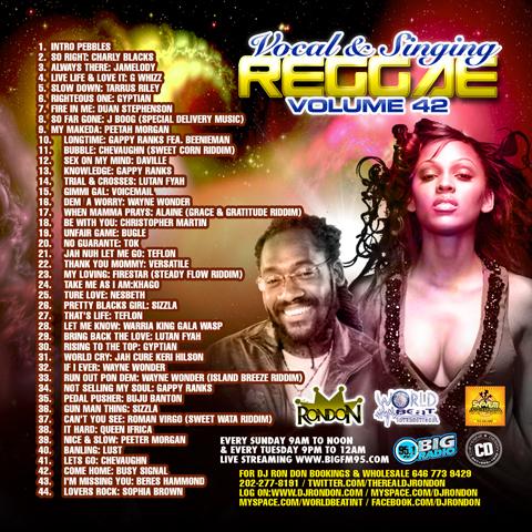 VOCAL/SINGING REGGAE VOL. 42 CD