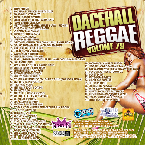 DANCEHALL REGGAE VOL. 79 CD