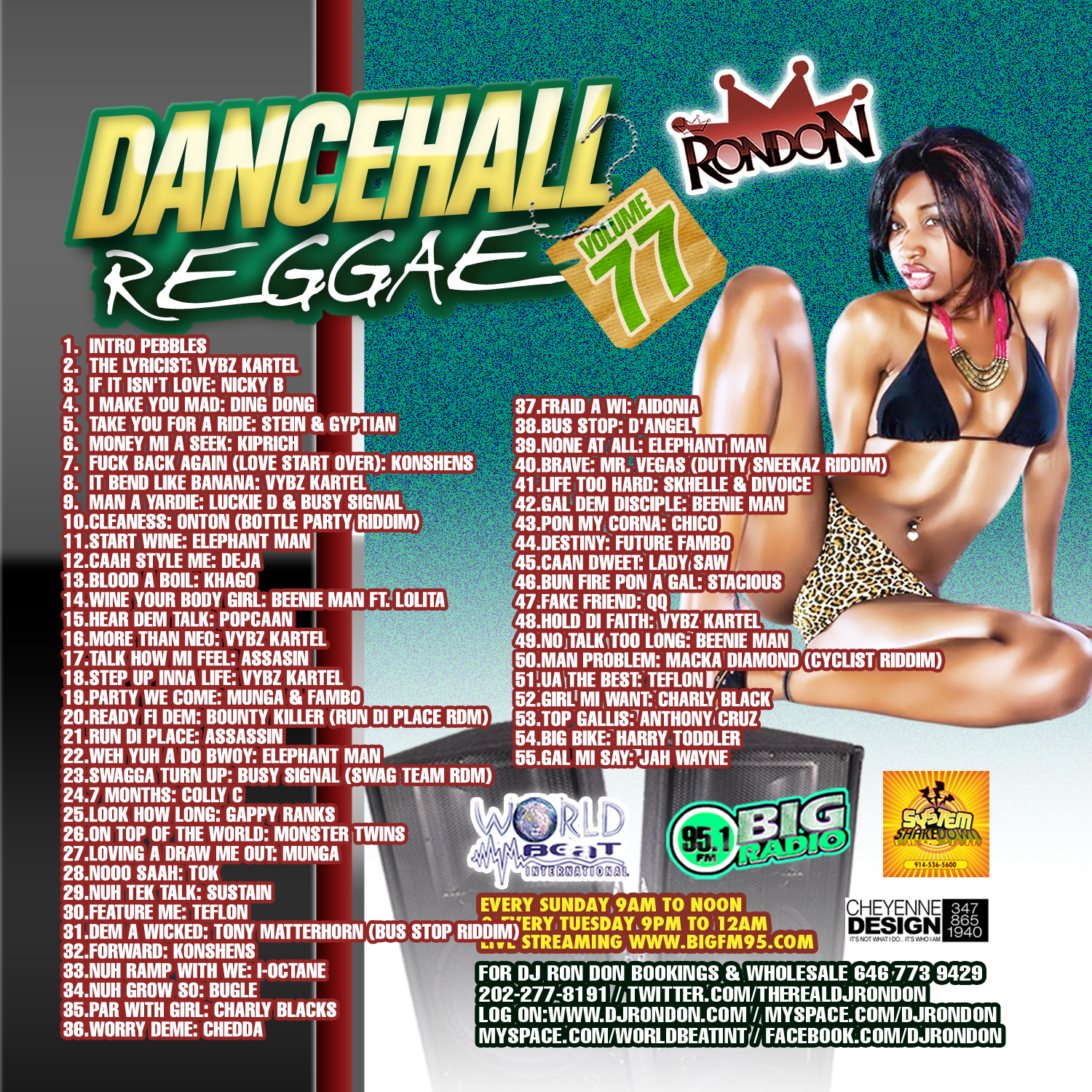 DANCEHALL REGGAE VOL. 77 CD
