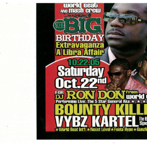 BOUNTY KILLER & VYBZ KARTEL LIVE DJ RON DON BIRTHDAY (DWN LD ONLY)