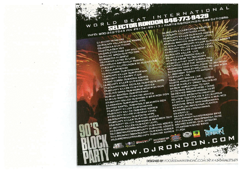 90'S BLOCK PARTY CD (DOWNLOAD ONLY)