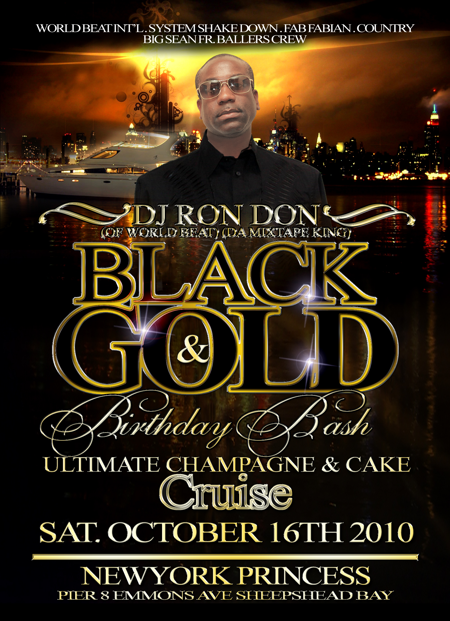 DJ RON DON BLACK & GOLD 2K10 SOCA MIX CD (DWLN ONLY)