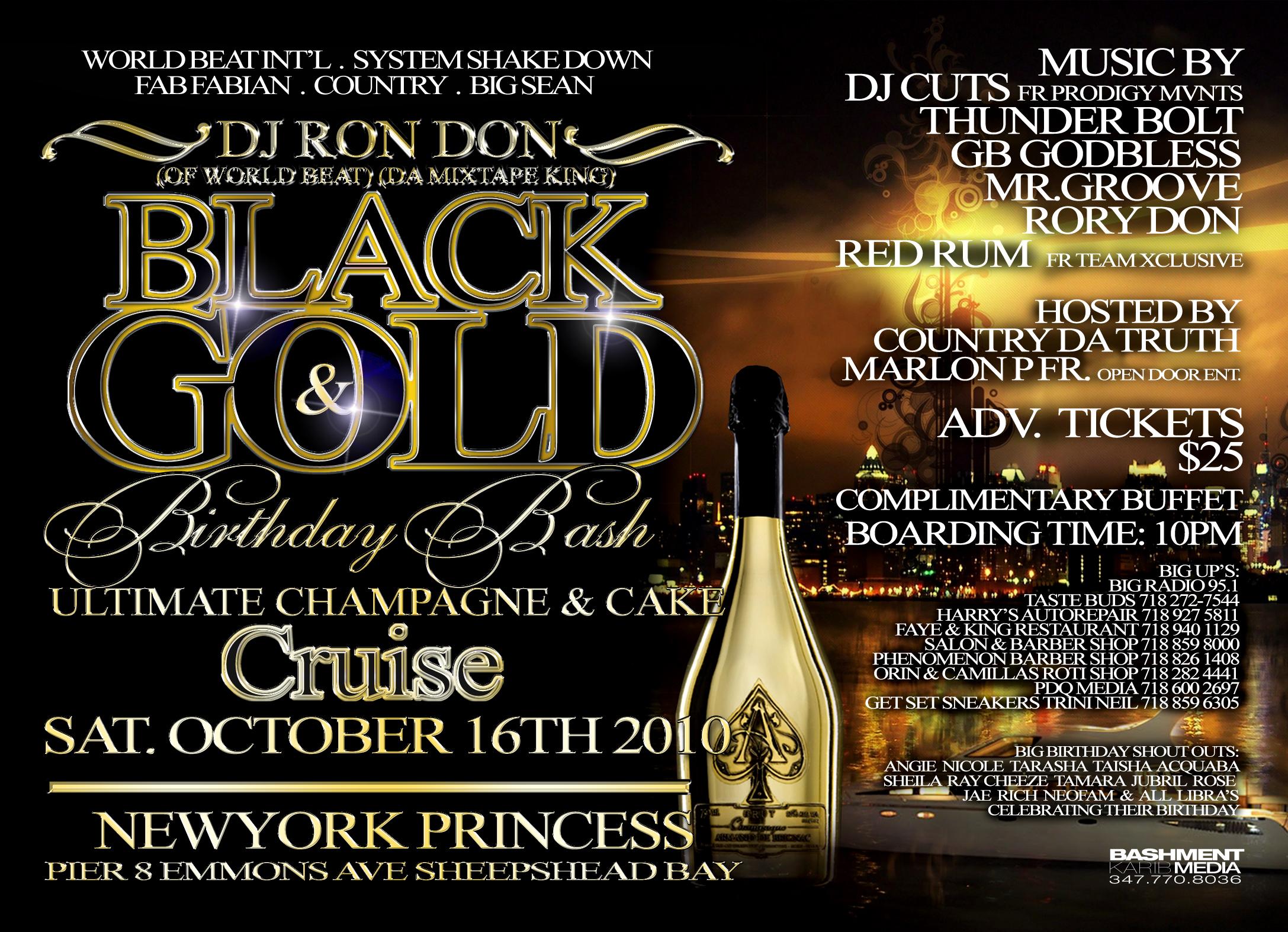 DJ RON DON BLACK & GOLD 2K10 DANCEHALL MIX CD (DWLN ONLY)
