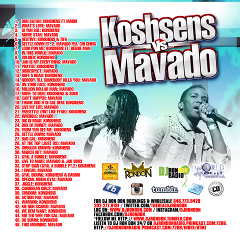 KONSHENS VS. MAVADO MIX (CD ONLY)