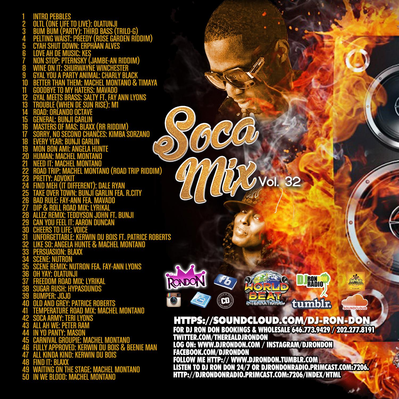 SOCA MIX VOL.32 (CD ONLY)