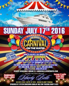THE 3RD ANNUAL CARNIVAL ON THE WATER BOAT RIDE