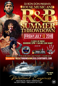 BOAT RIDE FRIDAY JULY 13TH 2018